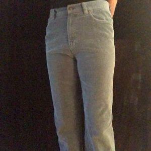 Ralph Lauren Light Blue Corduroy Pant, Size 8